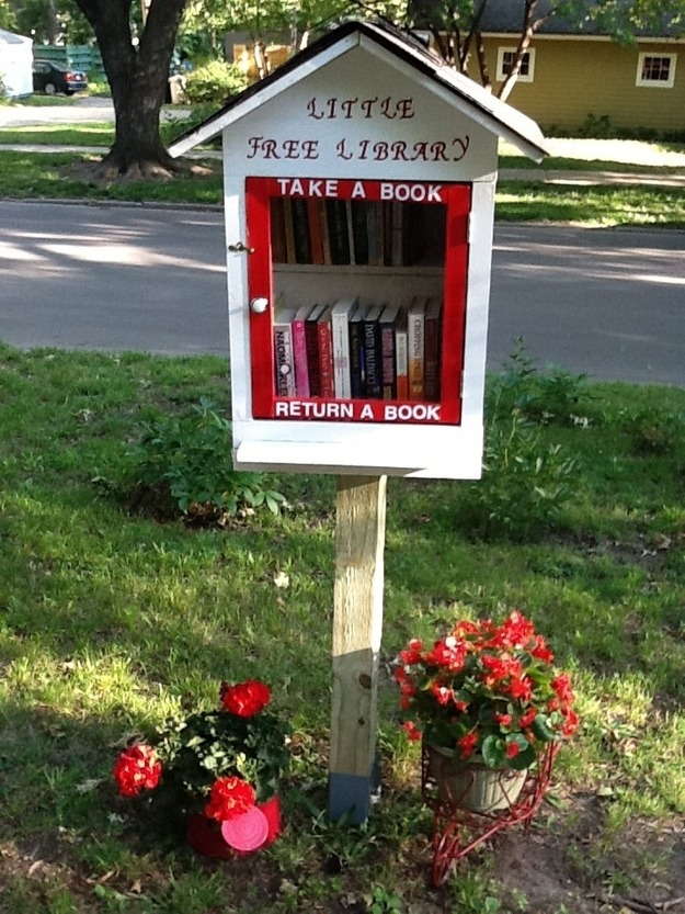 The Little Free Library is open to everyone in the community who loves books and reading. It's hours are 24/7 and the rules are quite simple…take a book, return a book. ~Caroljean Brune, Lawrence, Kansas