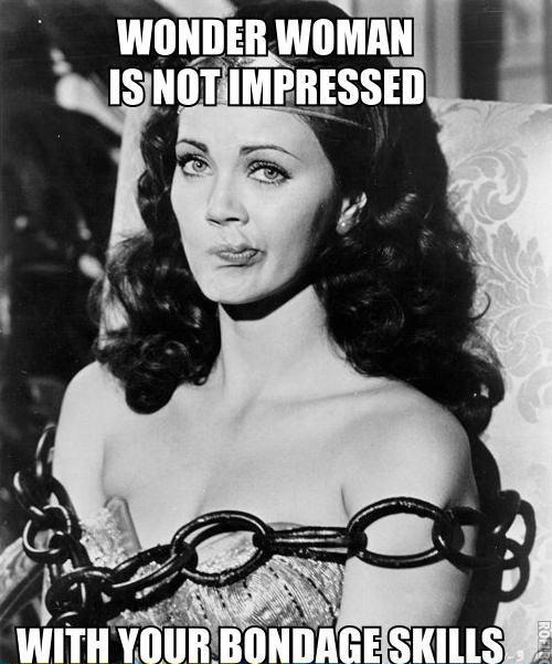 Wonder Woman's not impressed at all.
