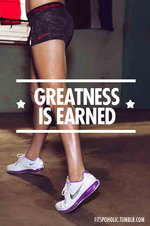 fitspoholic:  Greatness New Wallpaper, Hope you like it :)
