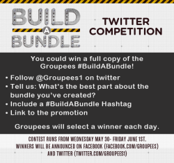 Check out the Build a Bundle Twitter Competition! Win a FULL copy of our new Game + Music Bundle: Build a Bundle!  Thanks everyone! Click here to follow our twitter <3