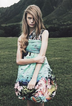 russiansnowqueen:  Ondria Hardin by Damon Heath for Lula #14, Summer 2012