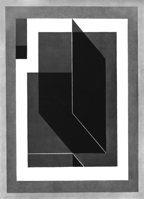 JOSEF ALBERS BENT BLACK A, 1940