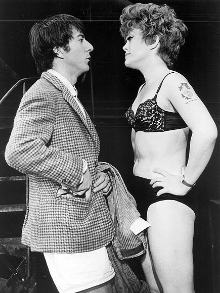 mroge:  Rue McClanahan and Dustin Hoffman, 1968