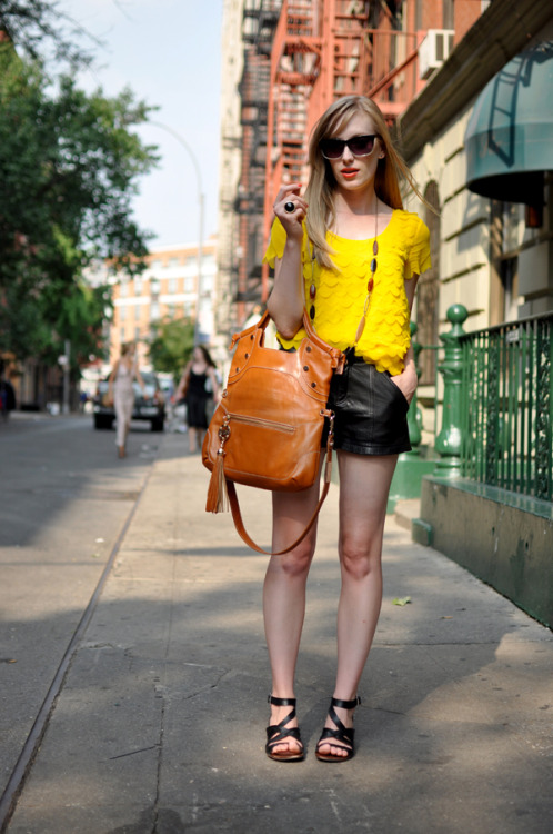 the-streetstyle:  Lemon With A Leather Peel