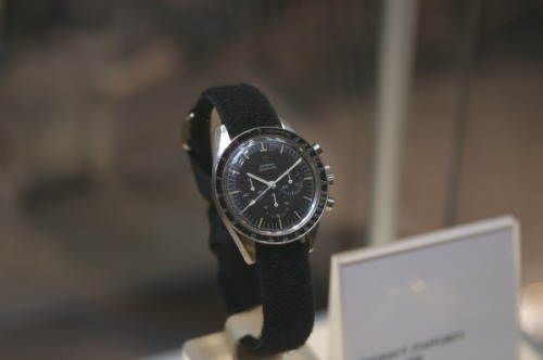 NASA astronaut Thomas P. Stafford's Omega Speedmaster, which was used during the Apollo 10 and Gemini 9 missions.