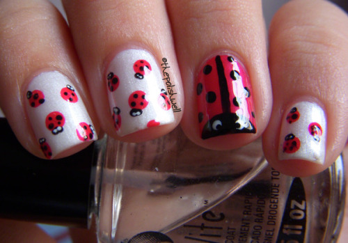 Adorable ladybug nails by Michelle C.!