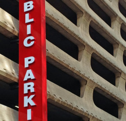 thelairdco:  Brutalist concrete Public Parking Garage, Dallas.