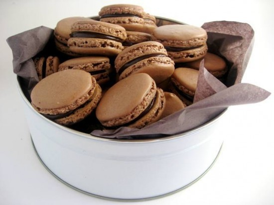 e-levated:  Chocolate Macarons with Chocolate Caramel Ganache