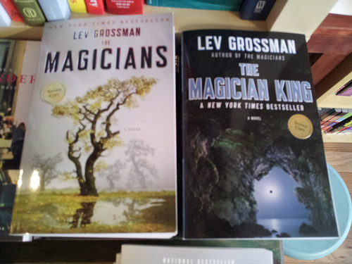 If you missed last night's interview and mingle with Lev Grossman, here are some pictures from the event and above is evidence of signed copies, which we are happy to hook you up with!