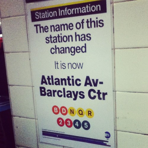 brklynbreed:  myworries:  It's Official Atlantic Ave.-Barclays Center/Brooklyn Nets (Taken with instagram)  I AM SO EXCITED. I LIVE IN THE NEIGHBORHOOD OF THE NEW BROOKLYN NETS ARENA! BROOKLYN ALL DAY. Jay-Z CONCERT SOON. SWERVE!