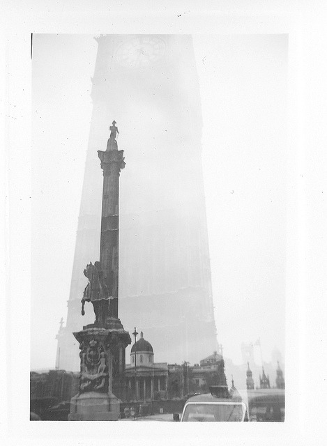Double exposure - Big Ben and Nelson's Column on Flickr.