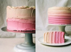 bride2be:  pink ombre wedding cake