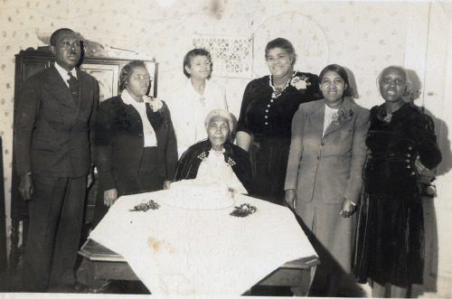 Mother Rosa Lindsay's 92nd Birthday Pine Bluff, Arkansas, March, 1947 The Back Reads:   Dear Ones- I thank the Lord I am 92 years old.  This is my cake with 92 candles, it is 16x51 inches.  I am well and happy.  Pray for me. Yours in Christ, Mother Rosa Lindsay  [Donated by the Earl McCann Collection] ©WaheedPhotoArchive, 2012