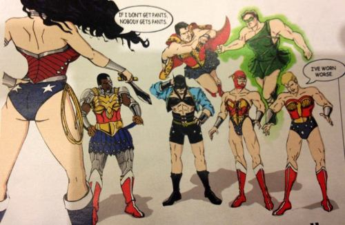 washingtonpoststyle:  If Wonder Woman doesn't get pants, ain't nobody getting pants. By Theamat @ Deviantart