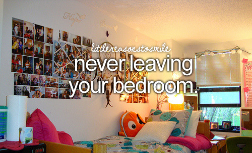 I have this problem. I just loovvve my room. Is that a crime? #antisocialproblems