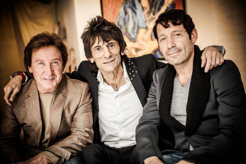 RON WOOD workhousepr:  THE FACES: Ronnie Wood, Kenny Jones & Workhouse, CEO Adam Nelson