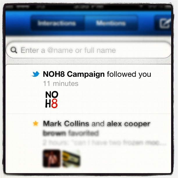 NOH8 #no #hate #noh8 #campaign #twitter #lgbt  (Taken with instagram)