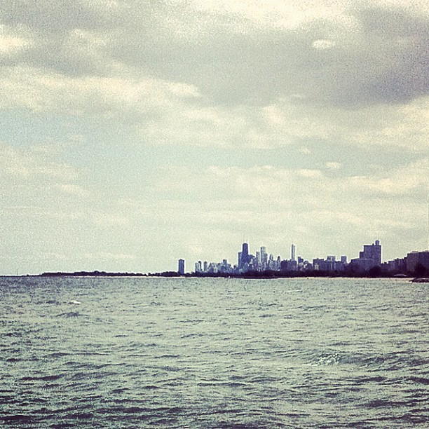 View of Downtown from Loyola's Park Beach.   (Taken with instagram)