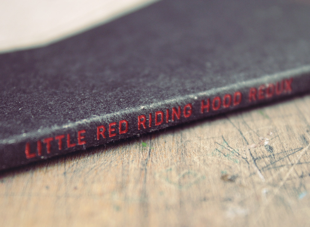 Letterpress Spine Little Red Riding Hood REDUX