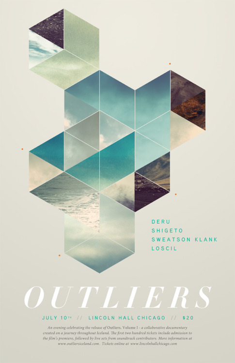 The new Ryan Sievert-designed show poster for the Outliers live event.  They'll be posted up around Chicago pretty soon.   Don't forget to purchase your tickets here.