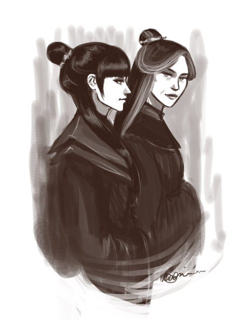 metalling-the-next-avatar:  Mai and Ursa by ~witalicious
