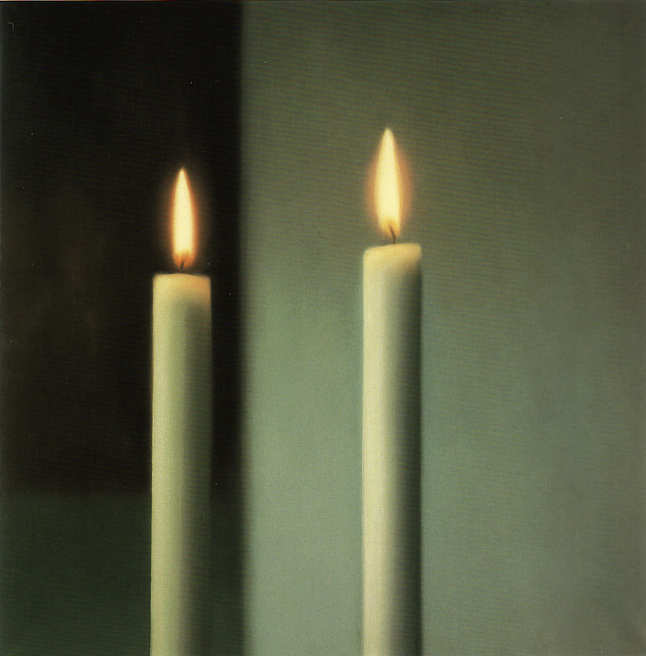 Gerhard Richter, Two Candles, 1982