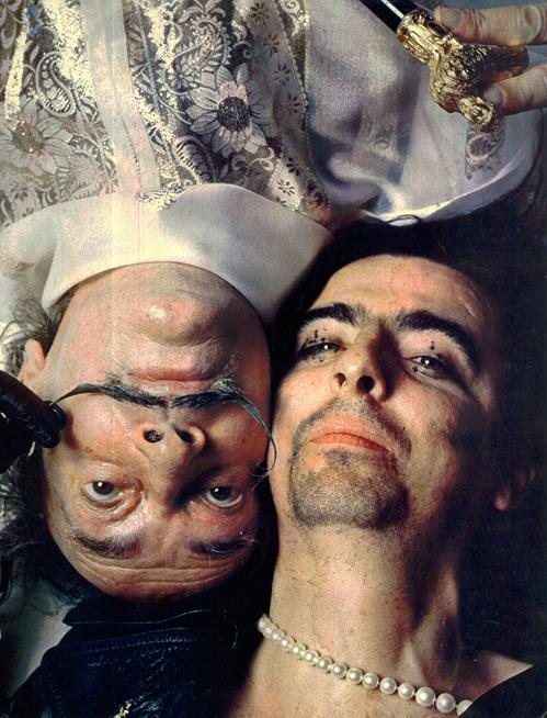 superseventies:  Salvador Dali and Alice Cooper   pearl necklace