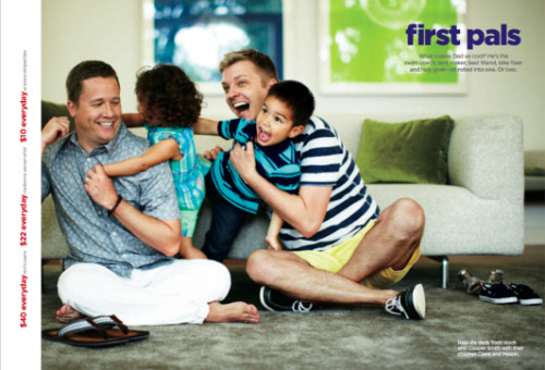 "thetrevorproject:  glaad:  JCPenney features gay dads in June catalog ""It looks like JCPenney is committed to doing more than just standing up for Ellen - it's once again standing up for the visibility of same-sex couples and their families in one of its catalogs.""  Thanks, JCPenny!"