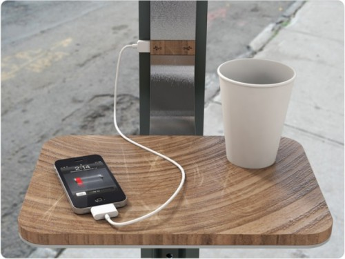 laughingsquid:  Street Charge, A Solar Powered Public Charging Station by PENSA