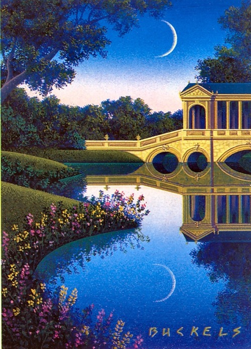 "Jim Buckels, ""The Bridge at Stourhead"""
