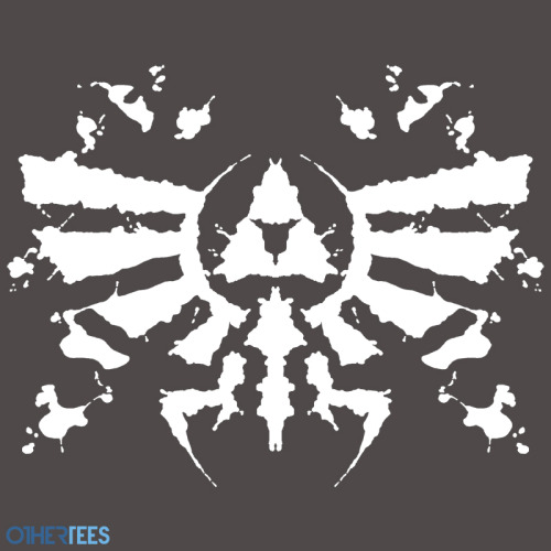 "othertees:         ""Hyrule Rorschach"" by MightyRain. T-shirt on sale 30th May - 2nd June on OtherTees for 7.5£/9€/12$."