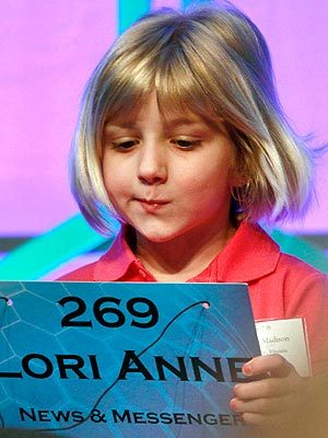 """I'm not really excited like, 'I'm going to the national spelling bee!' I'm more like, 'Uh, it's fine.' "" - The youngest contestant to ever compete in the Scripps National Spelling Bee, 6-year-old Lori Anne C. Madison, who wants ""to be an astrobiologist,"" in a video on KSDK.com"