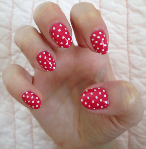 Hot pink summer polka dots