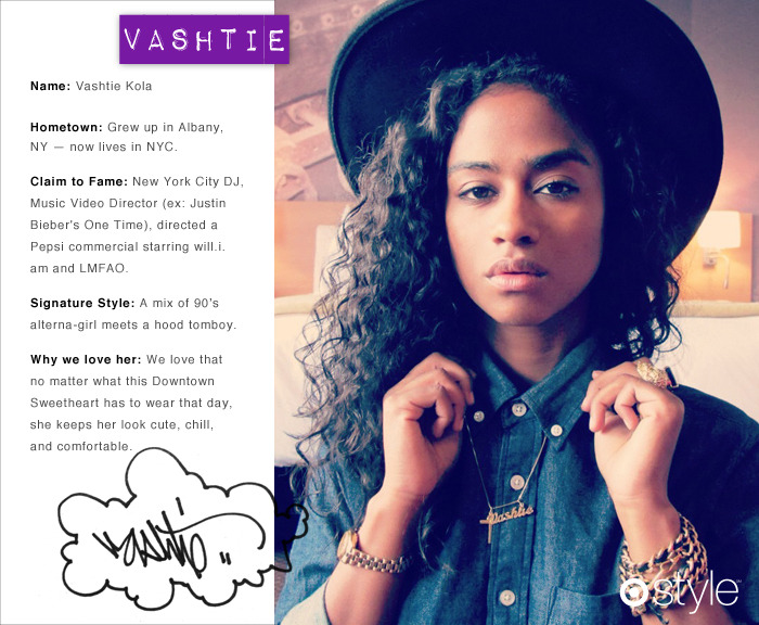Guest Editor for June Introducing Vashtie Kola, New York City DJ, music video director (think Bieber Fever), first girl to design her own Air Jordan, Beats by Dre collaborator, does the list end?