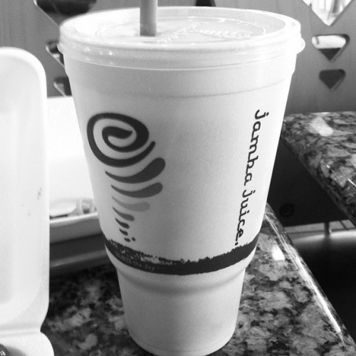 The bizzness!!! #jambajuice #strawberry #passion  (Taken with instagram)