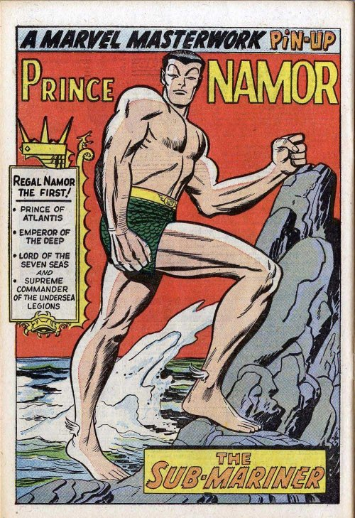 fuckyeahmelancholy:  rraaaarrl:  regal Namor  Draw me like one of your surface girls.
