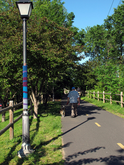 Bike Path Yarn Bomb by trailerfullofpix on Flickr.