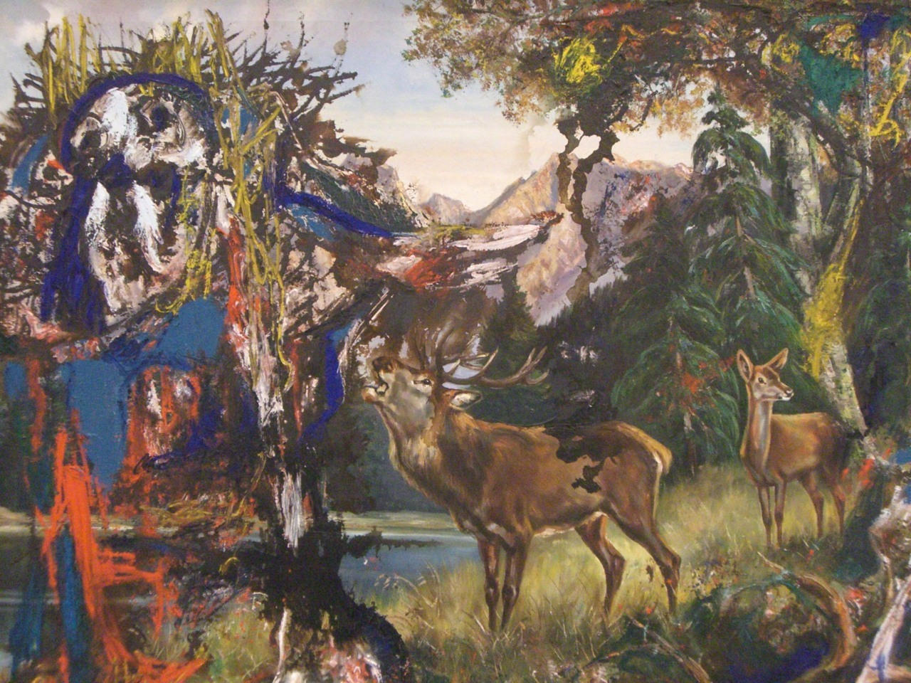 cavetocanvas:  Asger Jorn, Deer Rut in Wilden Kaiser, 1960