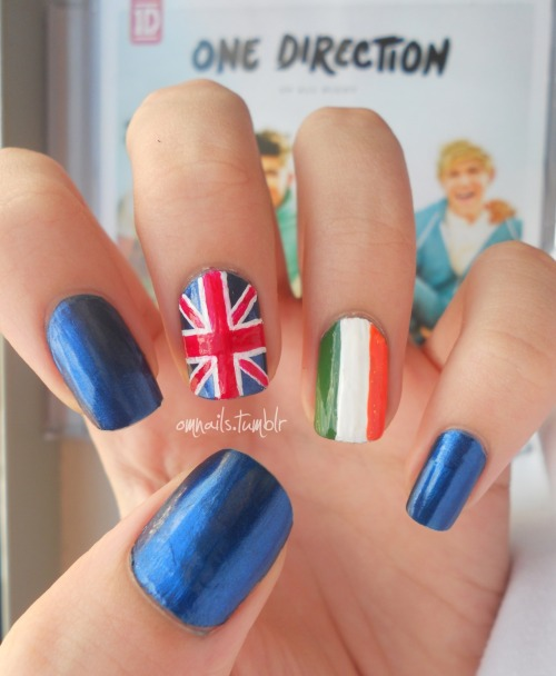 One Direction, pt 2 (facebook) (+ 1D nails)