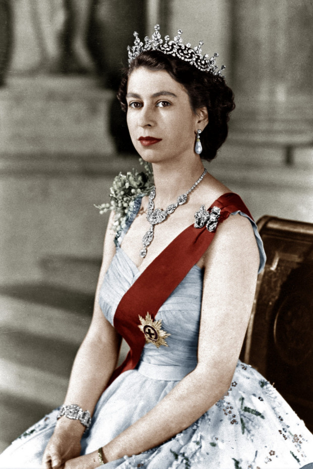 vintageembeddedinmysoul:  A portrait of Queen Elizabeth II during the (1950s)