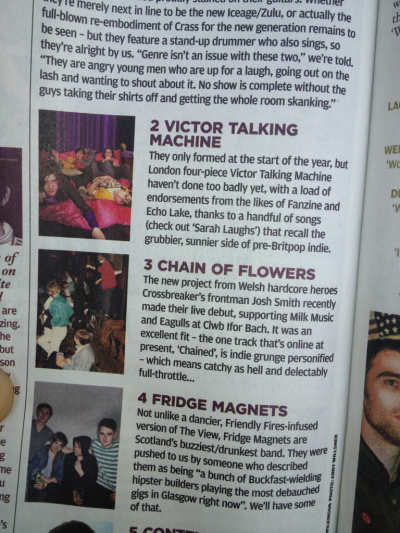This can be found in the new issue of the NME. I laughed.