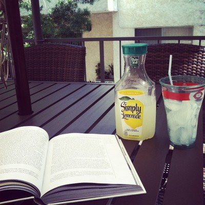 Lemonade in the shade reading Decoded for the 4th time. (Taken with Instagram at My Sanctuary)