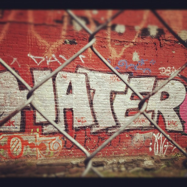 #latergram #Hatergram. #Nyc #graffiti  (Taken with instagram)