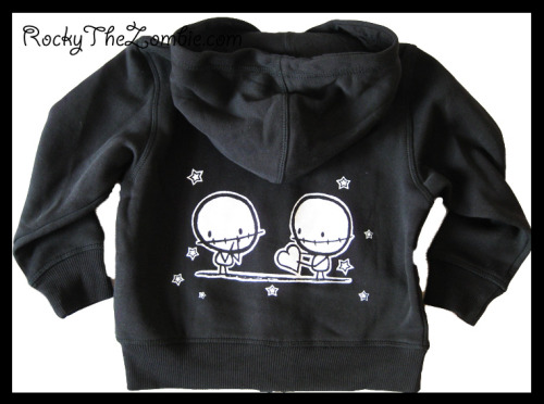 One for the babies ^_^  Zombie Lovers Zip-up Hoodie, by Rocky The Zombie.