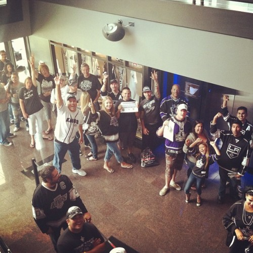 Line out the door @espnzonelalive (Taken with instagram)
