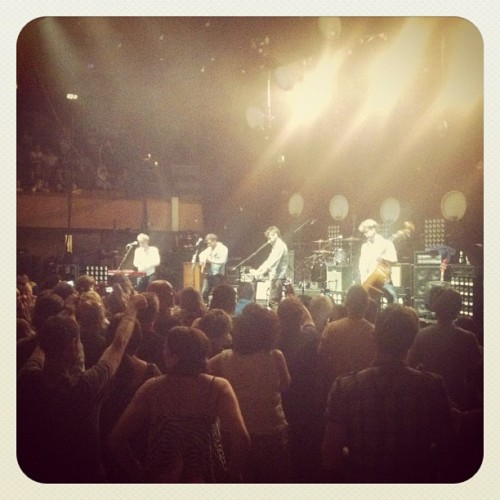 Mumford & Sons at St David's Hall in Cardiff on May 30, 2012. Photo courtesy of Tim Moody.