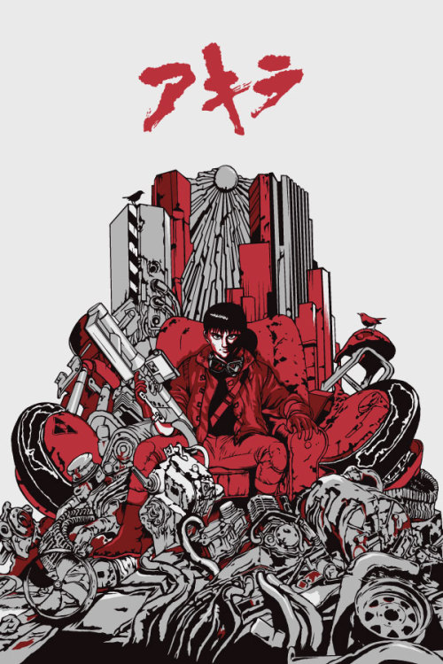"xombiedirge:  Akira by Dan Sherratt / Twitter 16"" X 24"" 4 colour screen print with a metallic ink. S/N edition of 80, available Friday 1st June 2012 HERE."