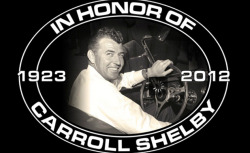Carroll Shelby Memorial Tonight!