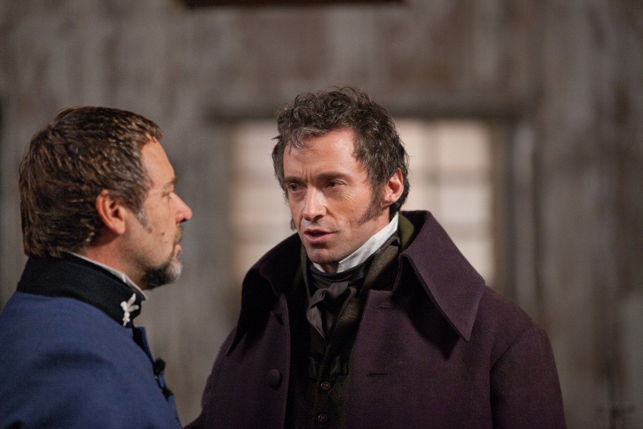 Russell Crowe & Hugh Jackman in Les Misérables Oh my god, KISS HIM! I haven't felt KISS HIM! emotions this intense since this:  And this: