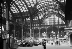 urbanmetaphysics:  Main Concourse of the original Pennsylvania Station, New York City, c. 1961.  What's incredibly sad is that I live near Penn Station now, and it's a rathole.
